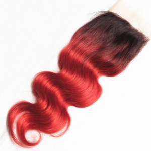Body Wave Custom Red Color Full Lace Wigs