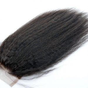 Kinky Straight Natural Full Lace Hair Wigs